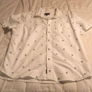 American Eagle short sleeve button down shirt